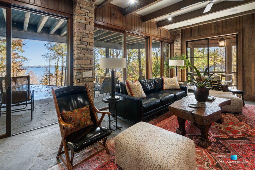 7860 Chestnut Hill Rd, Cumming, GA, USA - Recreation Room Seating - Luxury Real Estate - Lake Lanier Mid-Century Modern Stone Home