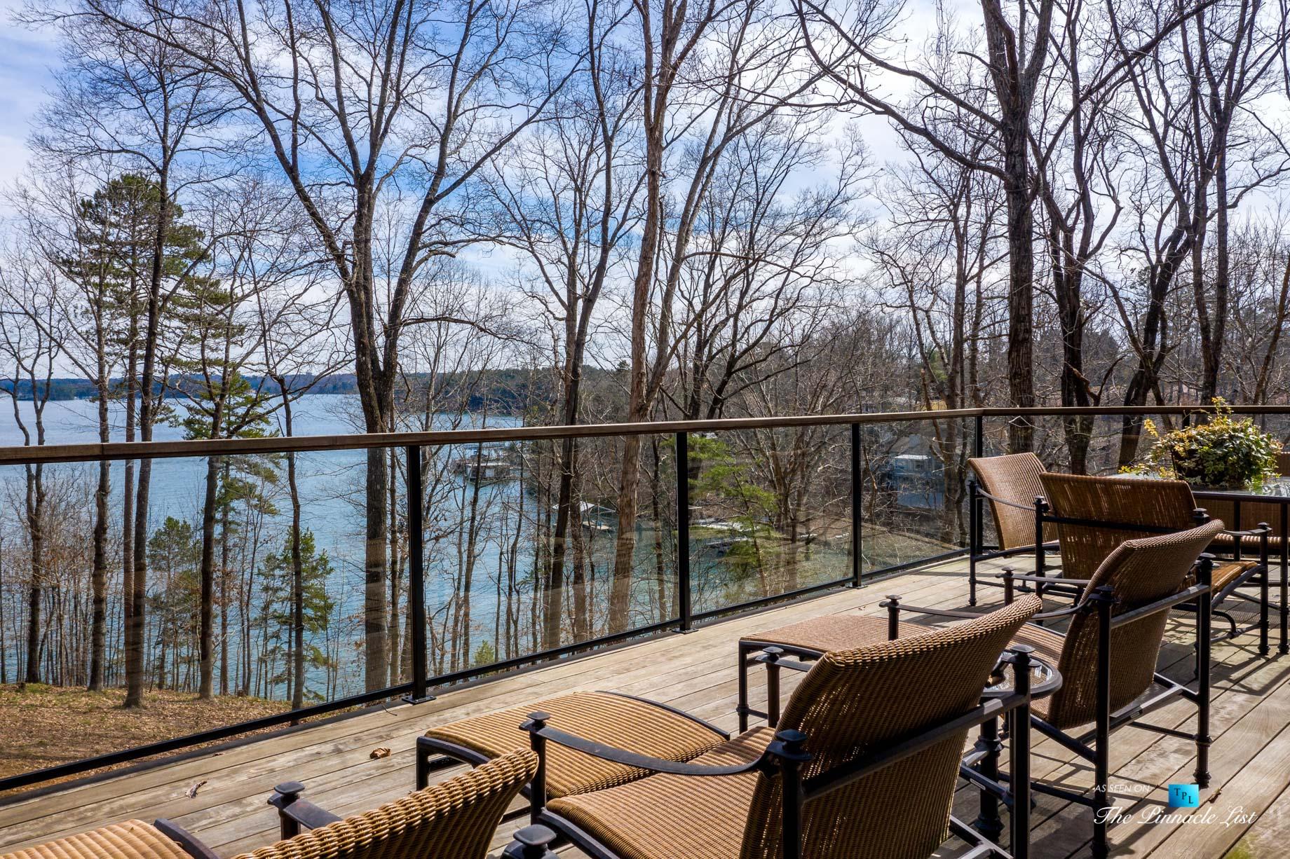 7860 Chestnut Hill Rd, Cumming, GA, USA – Exterior Deck Lake View – Luxury Real Estate – Lake Lanier Mid-Century Modern Stone Home