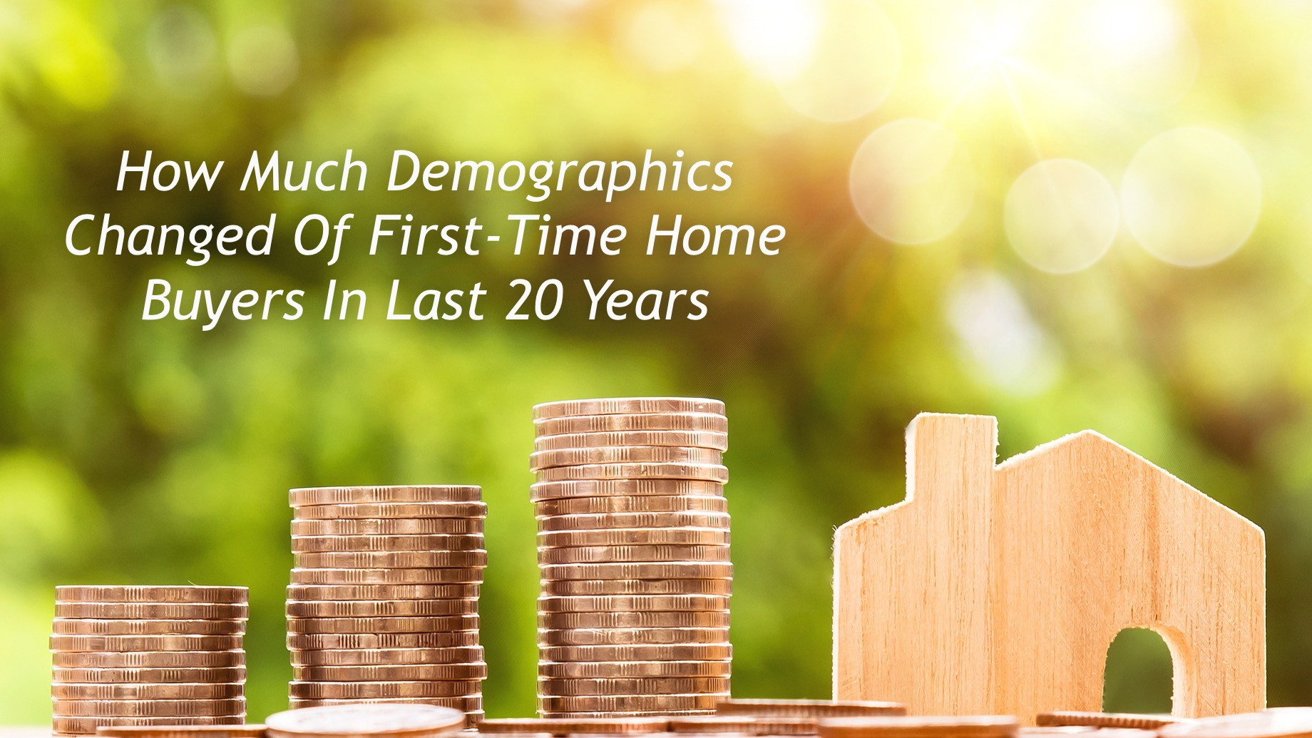 How Much Demographics Changed Of First-Time Home Buyers In Last 20 Years