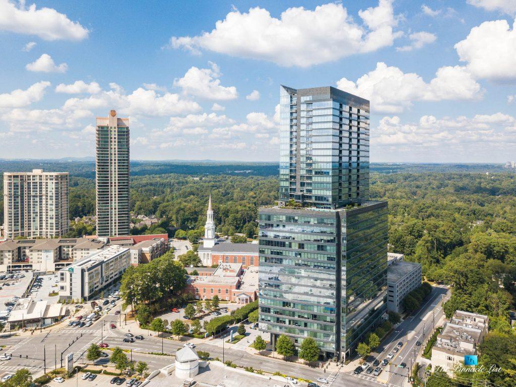 3630 Peachtree Rd NE, Unit 2808, Atlanta, GA, USA - Drone Aerial Tower View - Luxury Real Estate - The Ritz-Carlton Residences Buckhead
