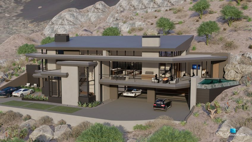5221 E Cheney Dr, Paradise Valley, AZ, USA - Exterior Front View - Luxury Real Estate - Modern Hillside Home