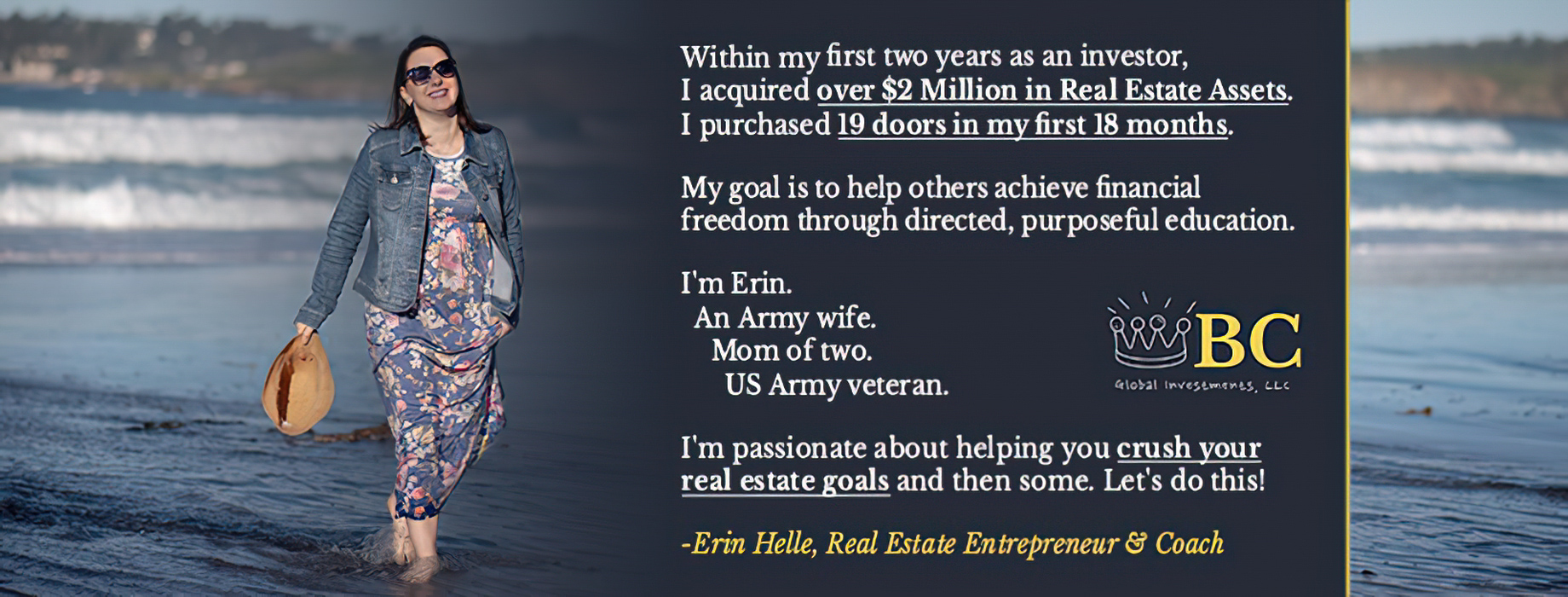 Erin Helle - Founder of BC Global Investments