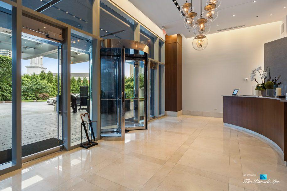 3630 Peachtree Rd NE, Unit 2808, Atlanta, GA, USA - Lobby Entrance and Front Desk - Luxury Real Estate - The Ritz-Carlton Residences Buckhead