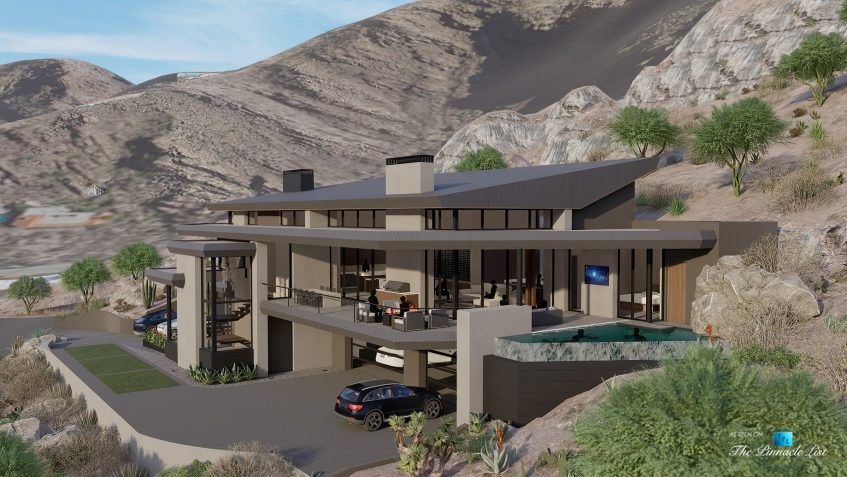 5221 E Cheney Dr, Paradise Valley, AZ, USA - Exterior Front Side View - Luxury Real Estate - Modern Hillside Home