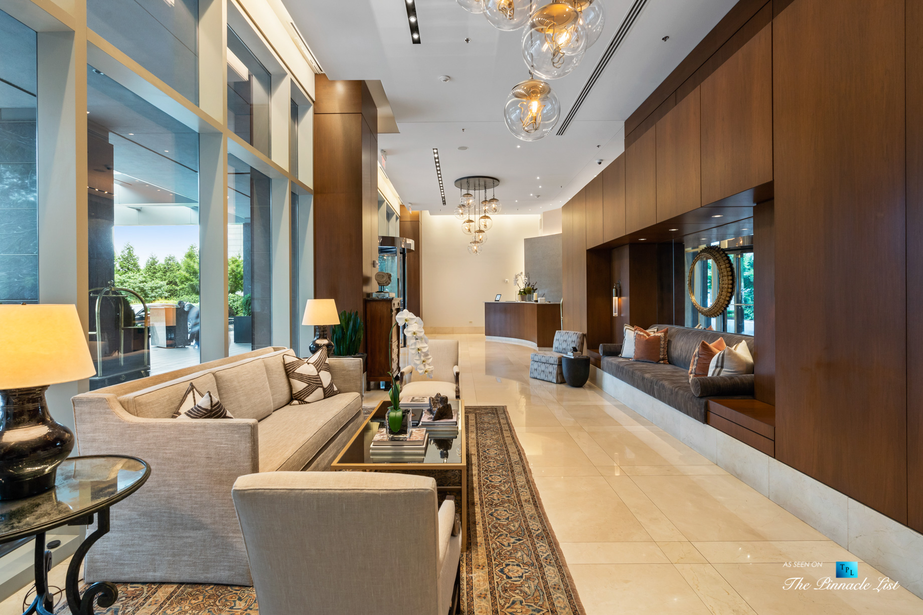 3630 Peachtree Rd NE, Unit 2808, Atlanta, GA, USA – Lobby Seating Area – Luxury Real Estate – The Ritz-Carlton Residences Buckhead