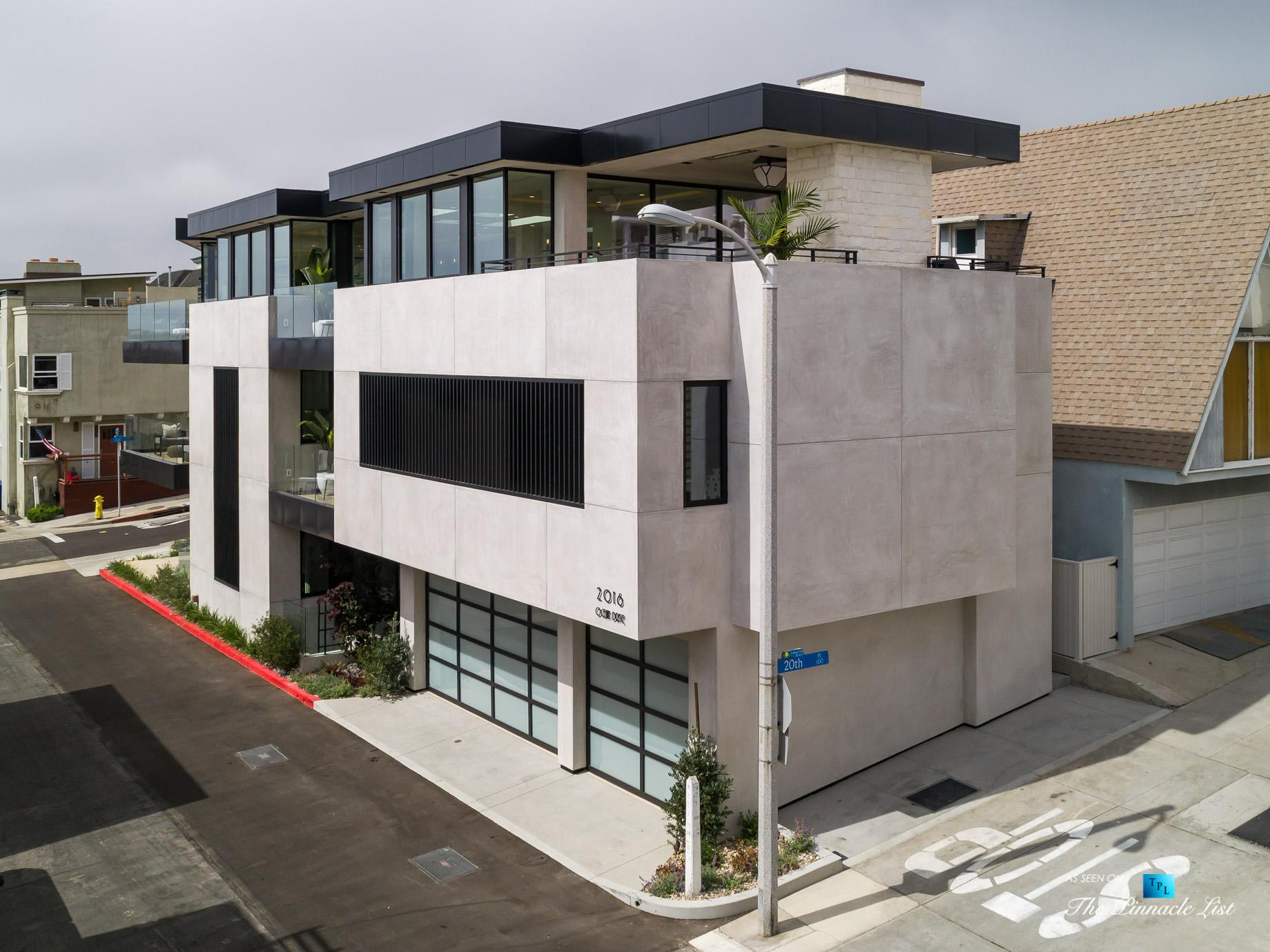 2016 Ocean Dr, Manhattan Beach, CA, USA – Drone Garage View – Luxury Real Estate – Modern Ocean View Home