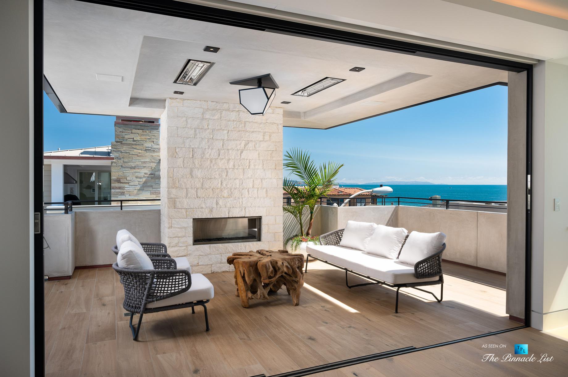 2016 Ocean Dr, Manhattan Beach, CA, USA – Covered Exterior Balcony View – Luxury Real Estate – Modern Ocean View Home