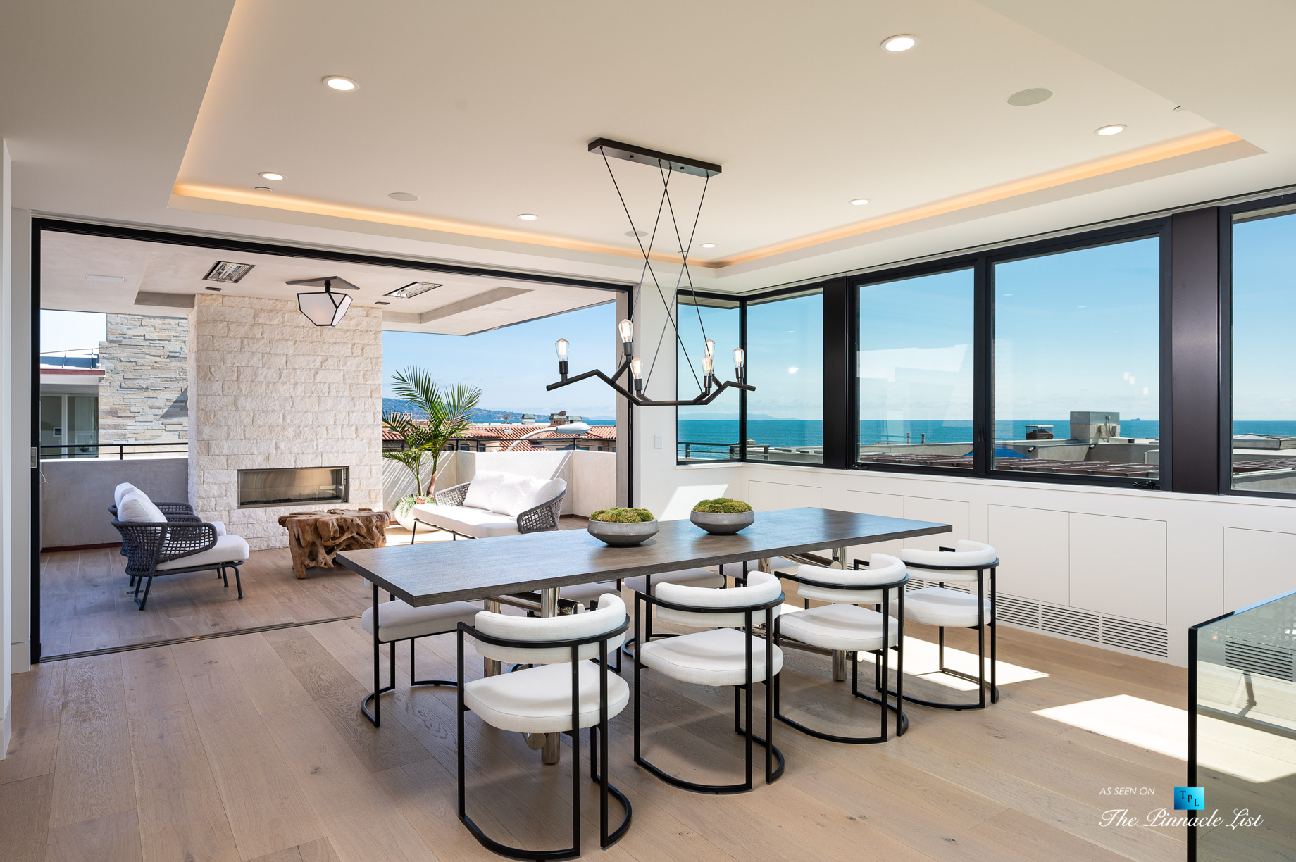 2016 Ocean Dr, Manhattan Beach, CA, USA - Balcony and Dining Room View - Luxury Real Estate - Modern Ocean View Home