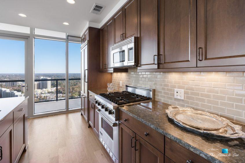 3630 Peachtree Rd NE, Unit 2808, Atlanta, GA, USA - Condo Kitchen Gas Stove - Luxury Real Estate - The Ritz-Carlton Residences Buckhead