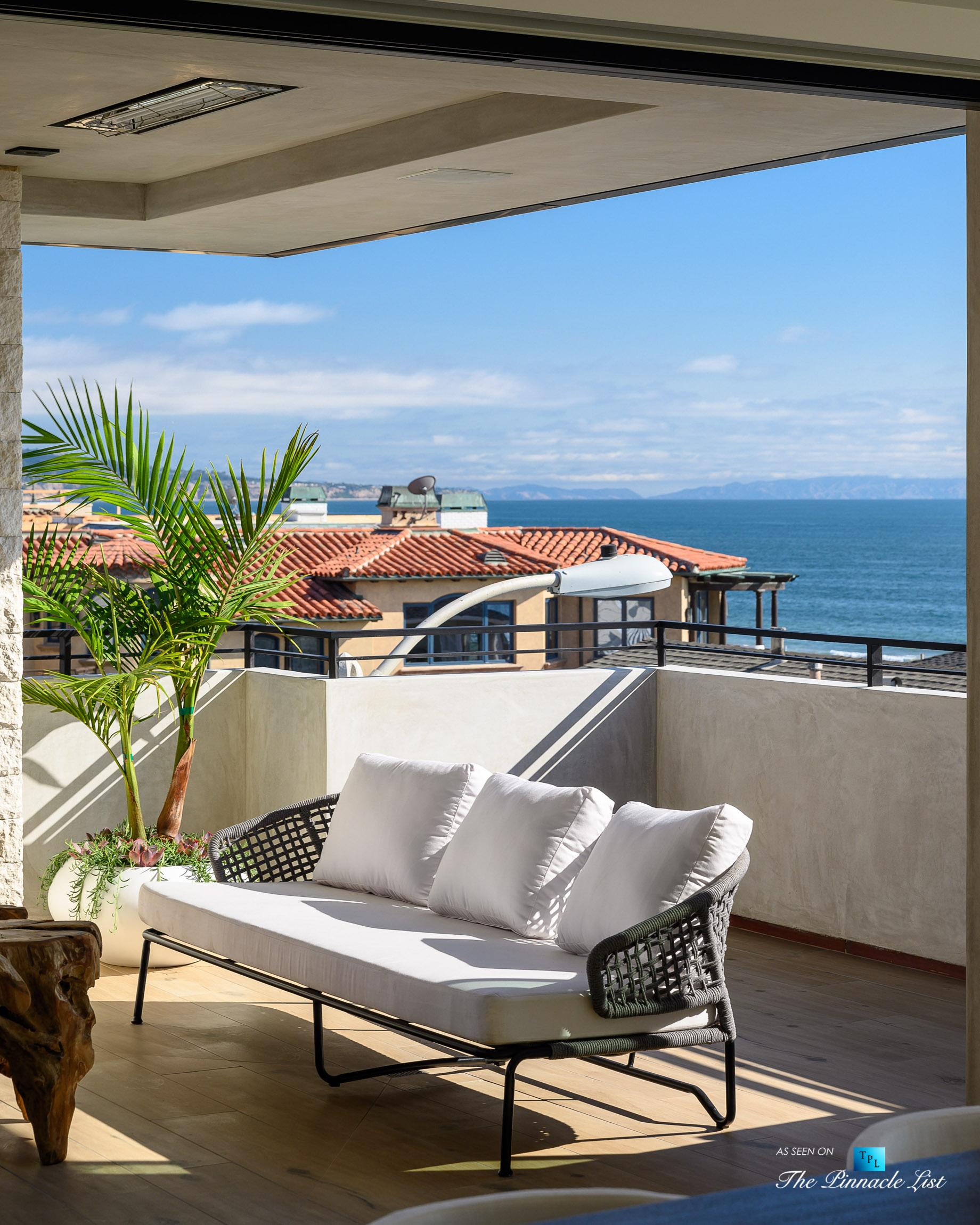 2016 Ocean Dr, Manhattan Beach, CA, USA - Covered Interior Balcony View - Luxury Real Estate - Modern Ocean View Home