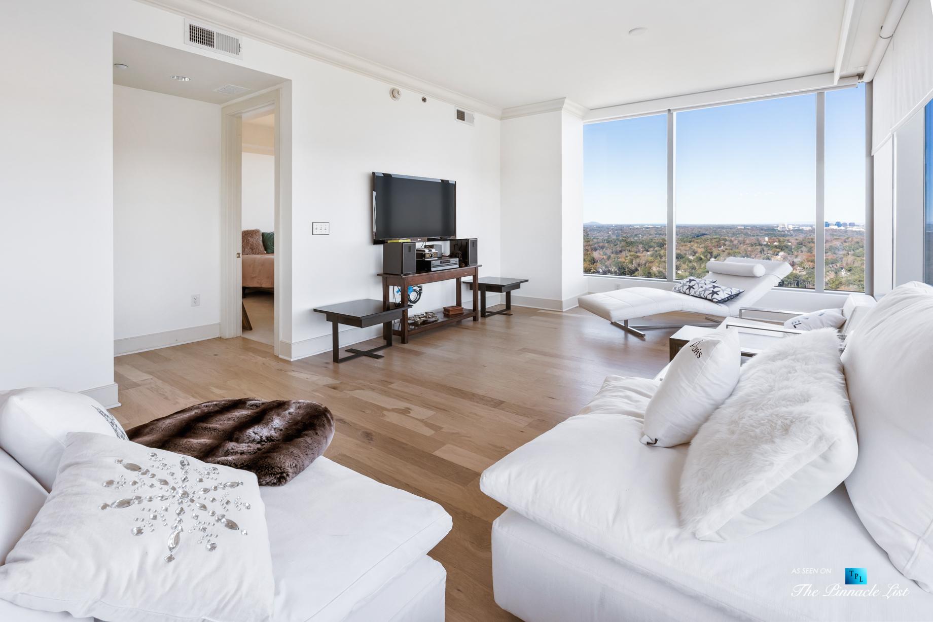3630 Peachtree Rd NE, Unit 2808, Atlanta, GA, USA – Condo Living Room – Luxury Real Estate – The Ritz-Carlton Residences Buckhead