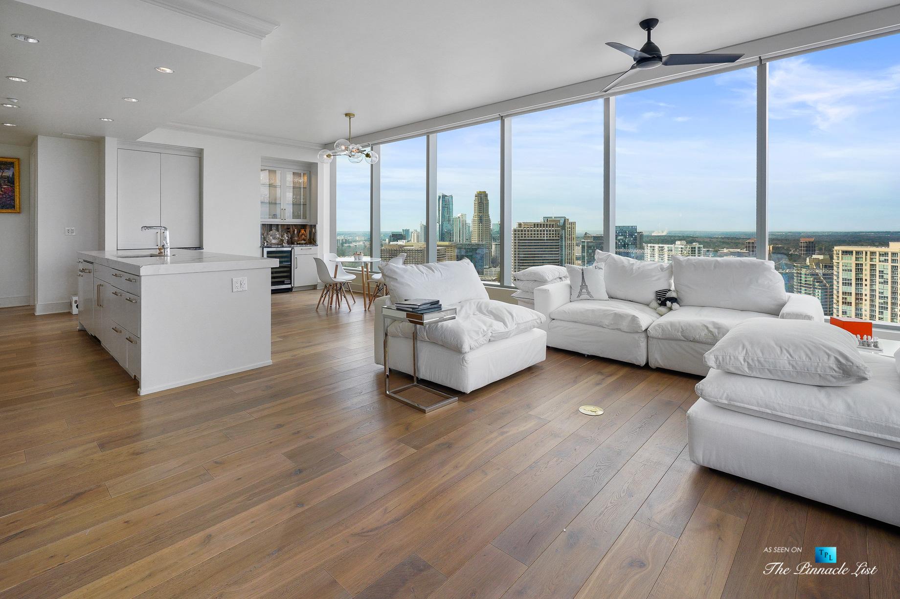 3630 Peachtree Rd NE, Unit 2307, Atlanta, GA, USA – Apartment Living Area – Luxury Real Estate – Ritz-Carlton Residences Buckhead
