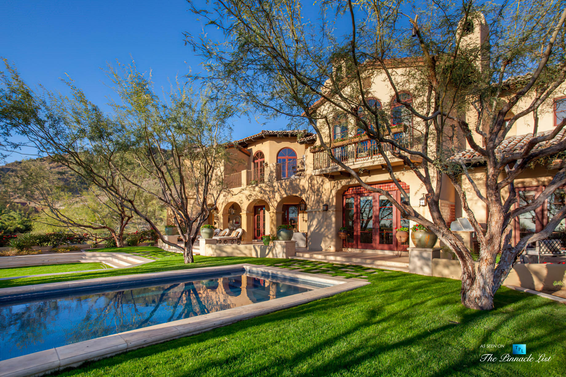 6539 N 31st Pl, Phoenix, AZ, USA - Back Yard Pool - Luxury Real Estate - Biltmore Mountain Estates - Spanish Colonial Home