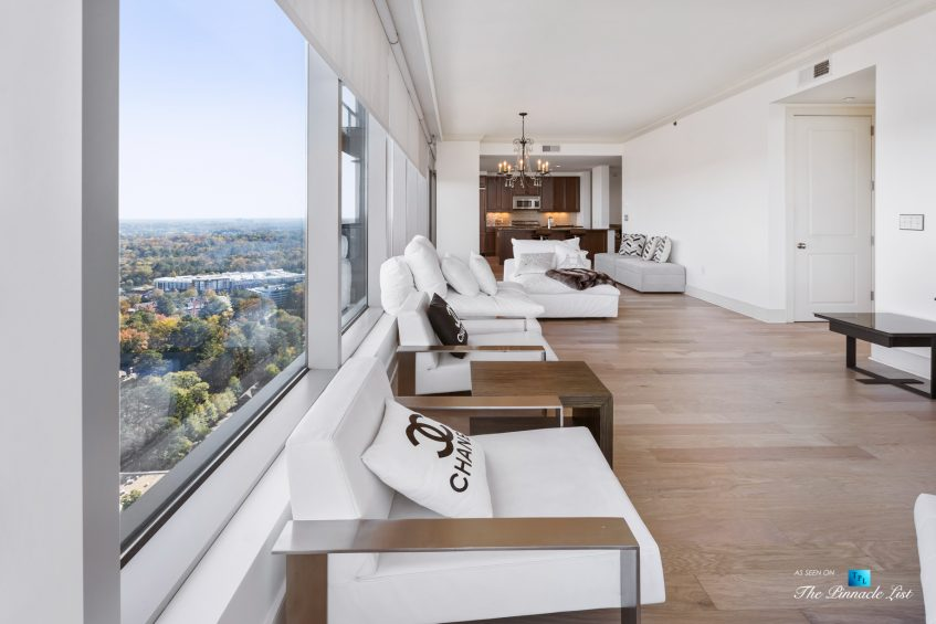 3630 Peachtree Rd NE, Unit 2808, Atlanta, GA, USA - Condo Living Room and Kitchen - Luxury Real Estate - The Ritz-Carlton Residences Buckhead