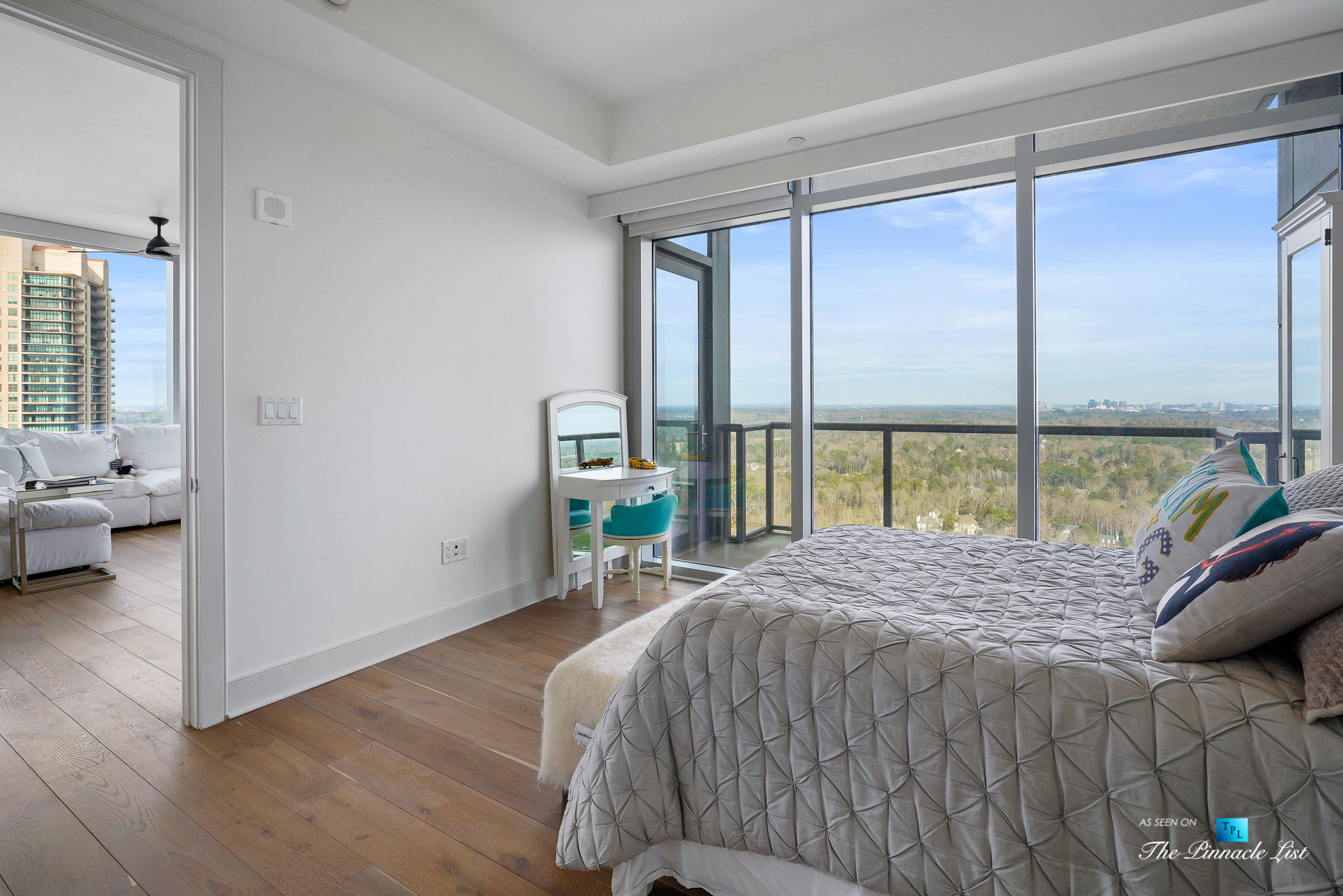 3630 Peachtree Rd NE, Unit 2307, Atlanta, GA, USA – Apartment Bedroom – Luxury Real Estate – Ritz-Carlton Residences Buckhead