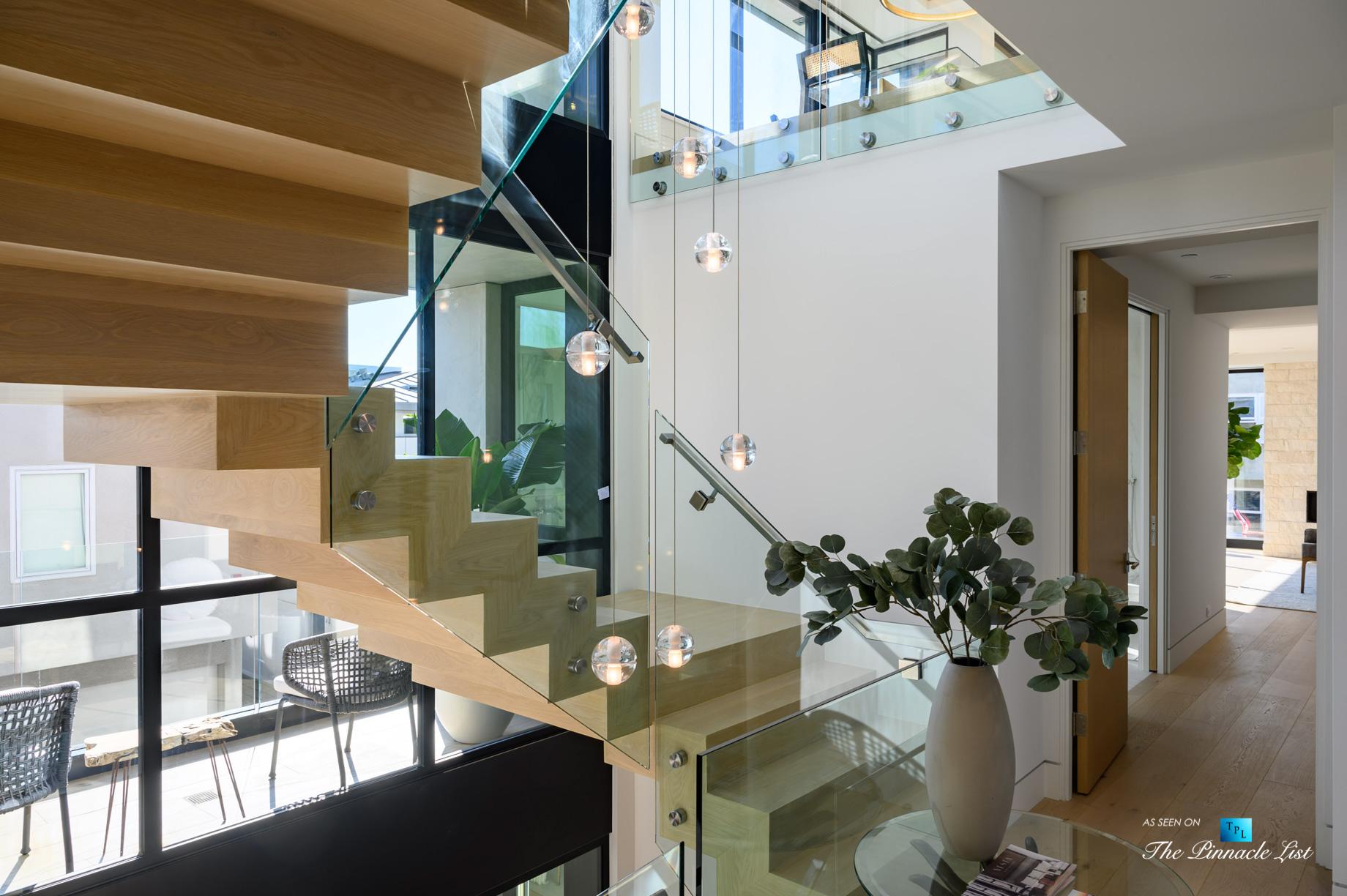 2016 Ocean Dr, Manhattan Beach, CA, USA - Foyer Stairs - Luxury Real Estate - Modern Ocean View Home