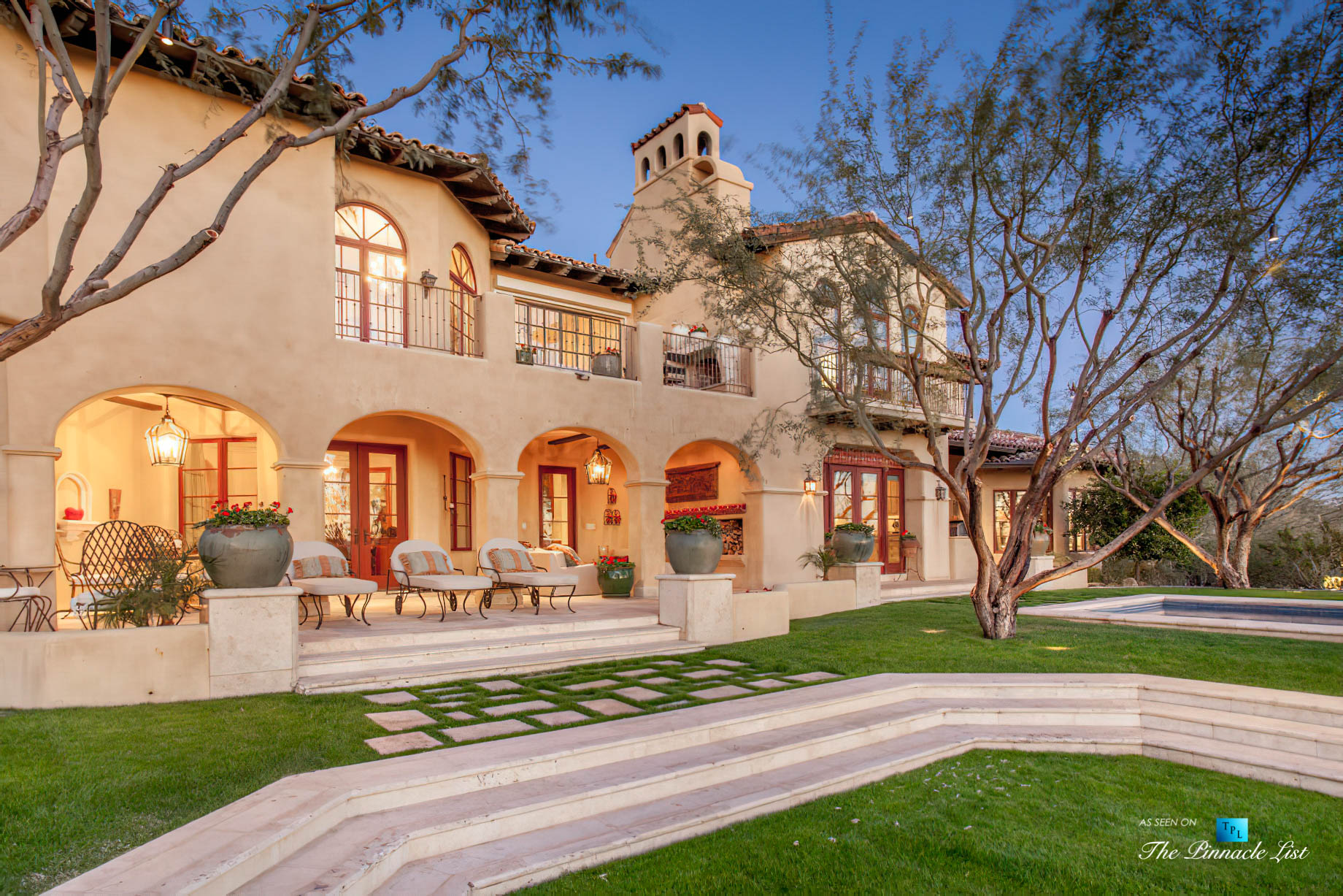 6539 N 31st Pl, Phoenix, AZ, USA - Back Yard Deck - Luxury Real Estate - Biltmore Mountain Estates - Spanish Colonial Home