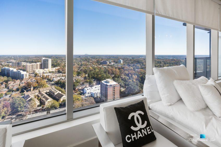 3630 Peachtree Rd NE, Unit 2808, Atlanta, GA, USA - Condo Living Room Window View - Luxury Real Estate - The Ritz-Carlton Residences Buckhead