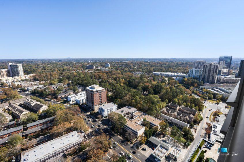 3630 Peachtree Rd NE, Unit 2808, Atlanta, GA, USA - Condo Private Balcony View - Luxury Real Estate - The Ritz-Carlton Residences Buckhead
