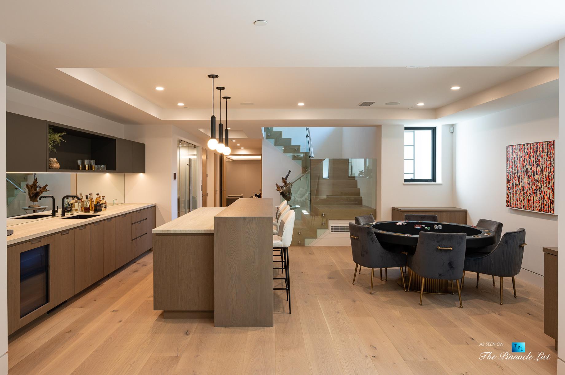 2016 Ocean Dr, Manhattan Beach, CA, USA – Bar and Recreation Room – Luxury Real Estate – Modern Ocean View Home