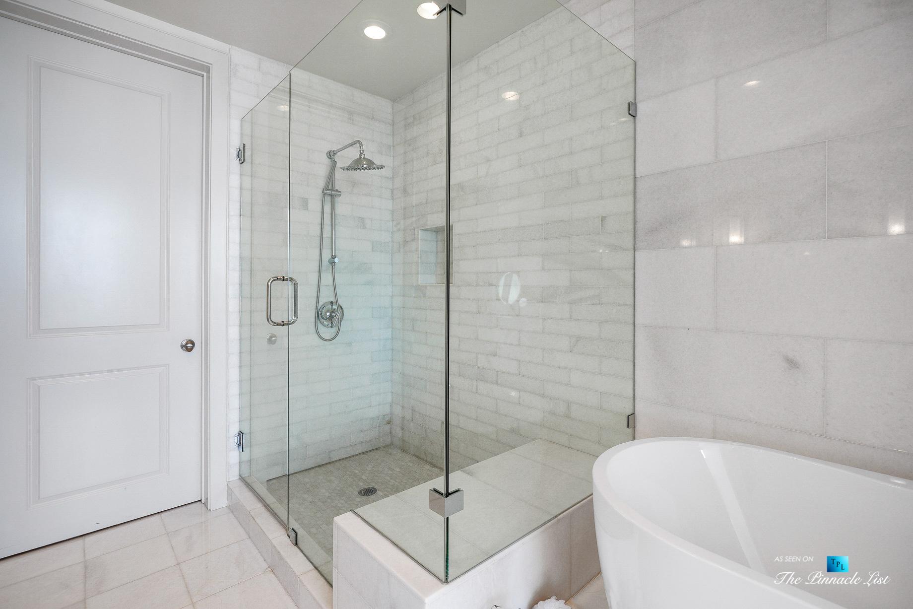 3630 Peachtree Rd NE, Unit 2307, Atlanta, GA, USA - Apartment Master Bathroom Shower - Luxury Real Estate - Ritz-Carlton Residences Buckhead