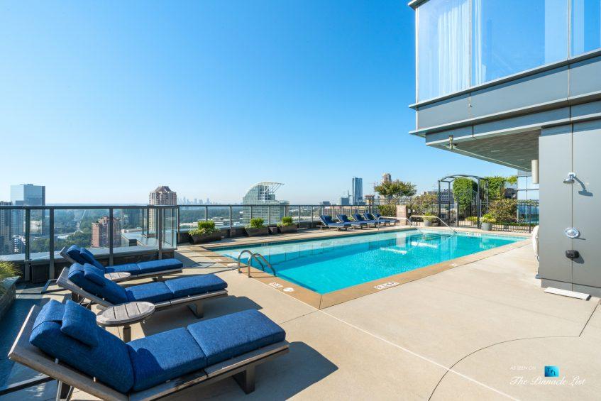 3630 Peachtree Rd NE, Unit 2808, Atlanta, GA, USA - Condo Exterior Pool - Luxury Real Estate - The Ritz-Carlton Residences Buckhead