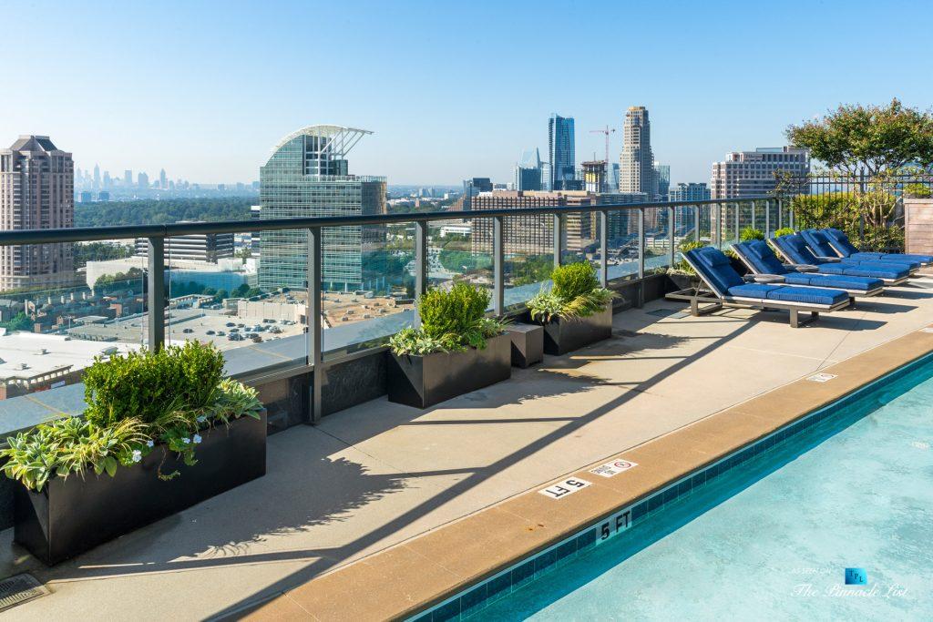 3630 Peachtree Rd NE, Unit 2808, Atlanta, GA, USA - Condo Exterior Pool View - Luxury Real Estate - The Ritz-Carlton Residences Buckhead