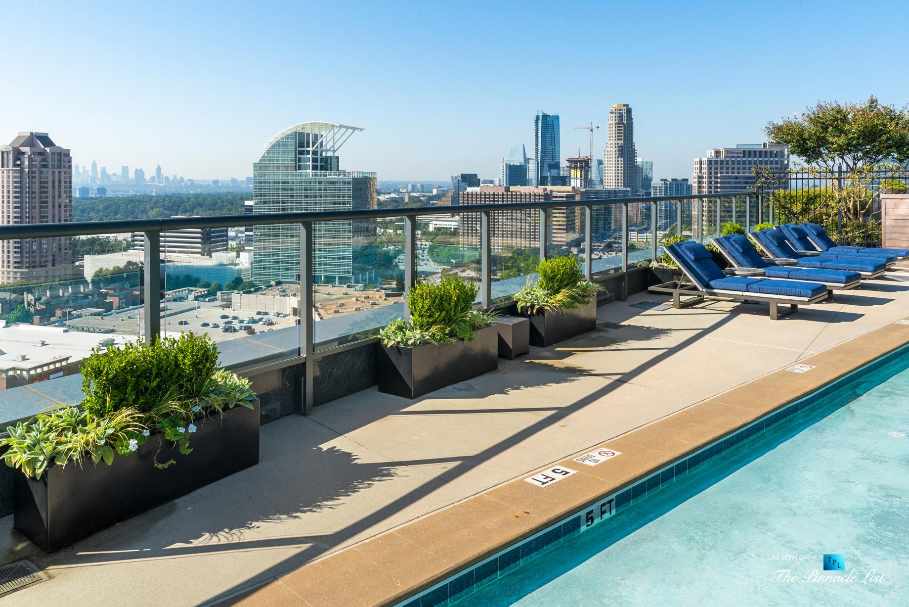 3630 Peachtree Rd NE, Unit 2808, Atlanta, GA, USA – Condo Exterior Pool View – Luxury Real Estate – The Ritz-Carlton Residences Buckhead