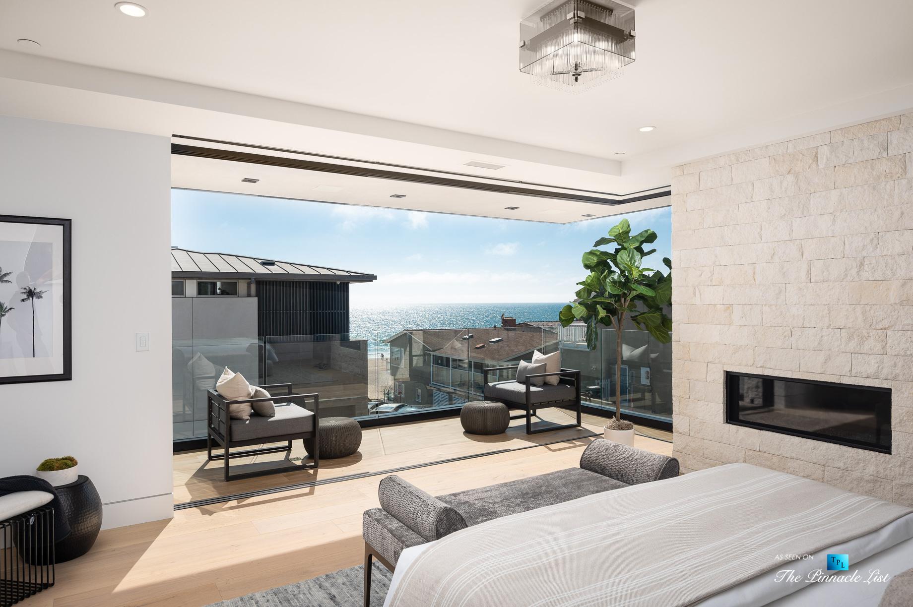 2016 Ocean Dr, Manhattan Beach, CA, USA – Master Bedroom – Luxury Real Estate – Modern Ocean View Home