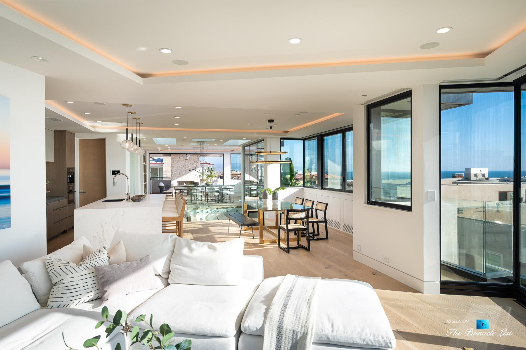 2016 Ocean Dr, Manhattan Beach, CA, USA – Living Room and Kitchen – Luxury Real Estate – Modern Ocean View Home