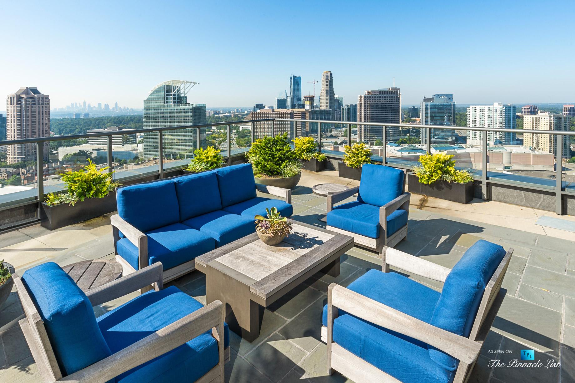 3630 Peachtree Rd NE, Unit 2307, Atlanta, GA, USA - Apartment Exterior Private Lounge Deck - Luxury Real Estate - Ritz-Carlton Residences Buckhead