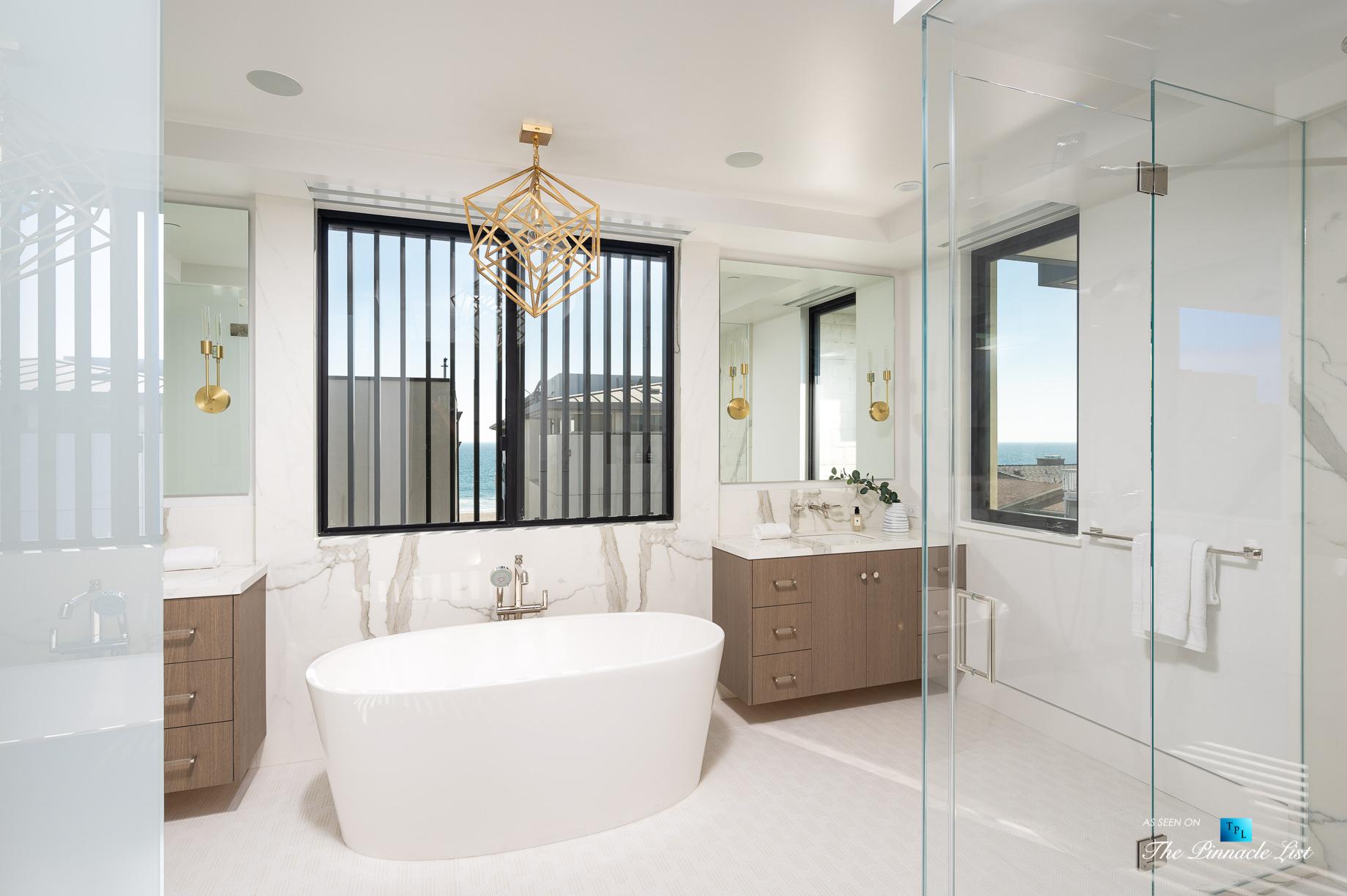 2016 Ocean Dr, Manhattan Beach, CA, USA – Master Bathroom – Luxury Real Estate – Modern Ocean View Home