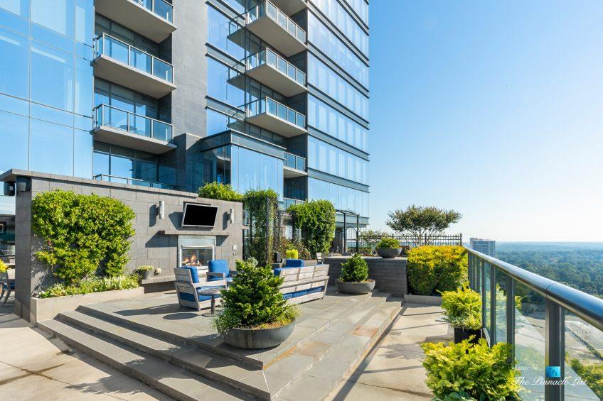 3630 Peachtree Rd NE, Unit 2808, Atlanta, GA, USA - Condo Outside Private Deck Lounge - Luxury Real Estate - The Ritz-Carlton Residences Buckhead