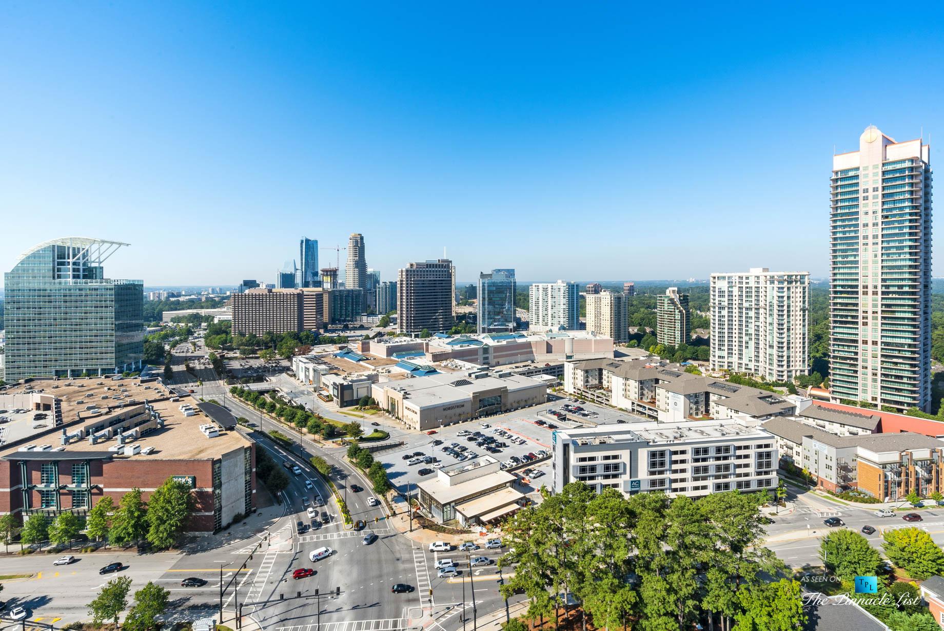 3630 Peachtree Rd NE, Unit 2808, Atlanta, GA, USA – Condo Exterior Pool Deck View – Luxury Real Estate – The Ritz-Carlton Residences Buckhead