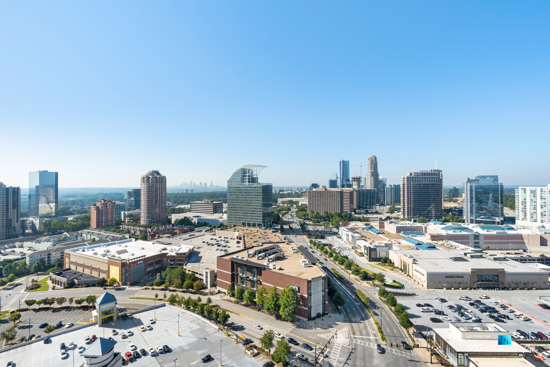 3630 Peachtree Rd NE, Unit 2808, Atlanta, GA, USA - Condo Exterior Pool Deck View - Luxury Real Estate - The Ritz-Carlton Residences Buckhead
