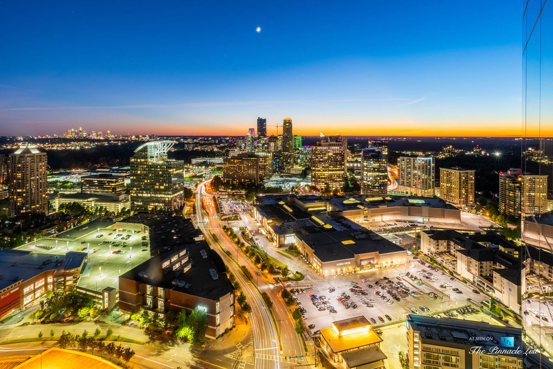 3630 Peachtree Rd NE, Unit 2808, Atlanta, GA, USA – Condo Exterior Night View – Luxury Real Estate – The Ritz-Carlton Residences Buckhead