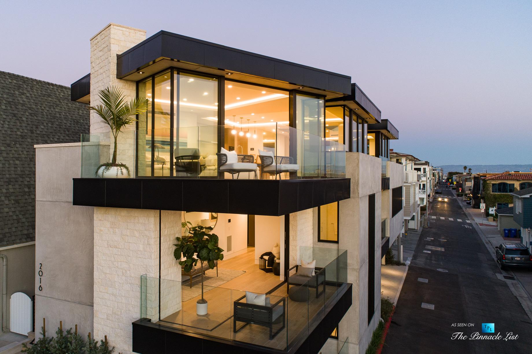2016 Ocean Dr, Manhattan Beach, CA, USA – Drone Sunset Exterior – Luxury Real Estate – Modern Ocean View Home