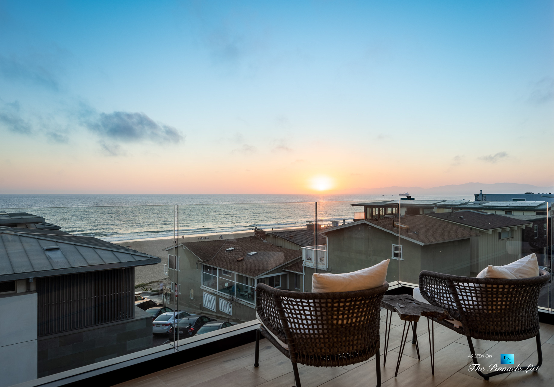 2016 Ocean Dr, Manhattan Beach, CA, USA - Master Bedroom Balcony Sunset View - Luxury Real Estate - Modern Ocean View Home