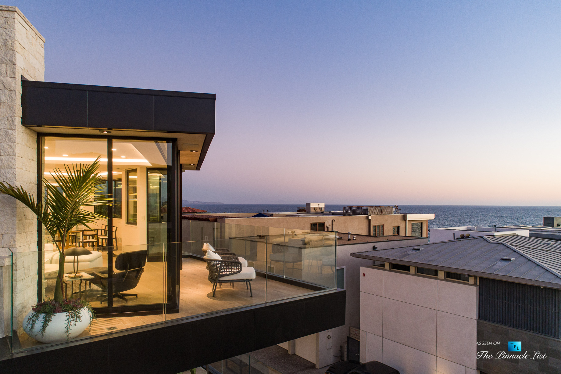 2016 Ocean Dr, Manhattan Beach, CA, USA – Master Bedroom Balcony Sunset View – Luxury Real Estate – Modern Ocean View Home