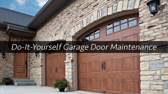 Do-It-Yourself Garage Door Maintenance