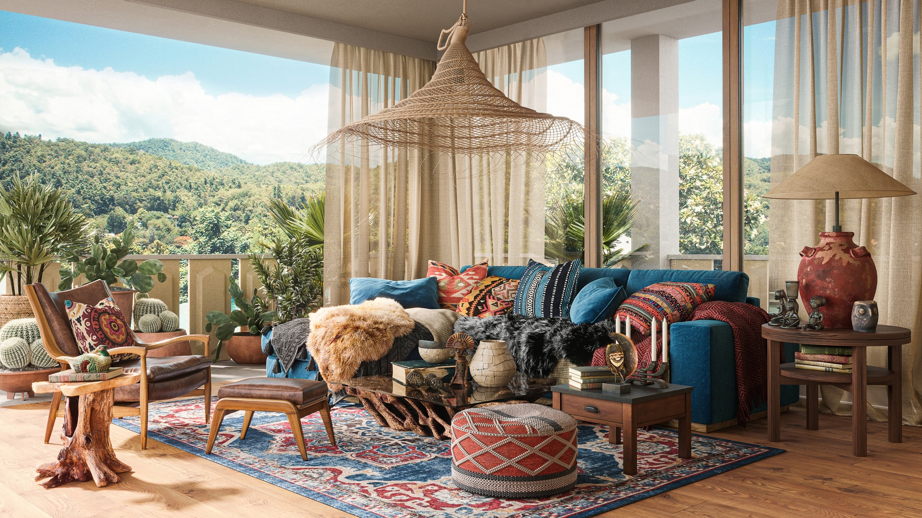 Eclectic Styles - Top 6 Interior Design Trends for Luxury Living in California