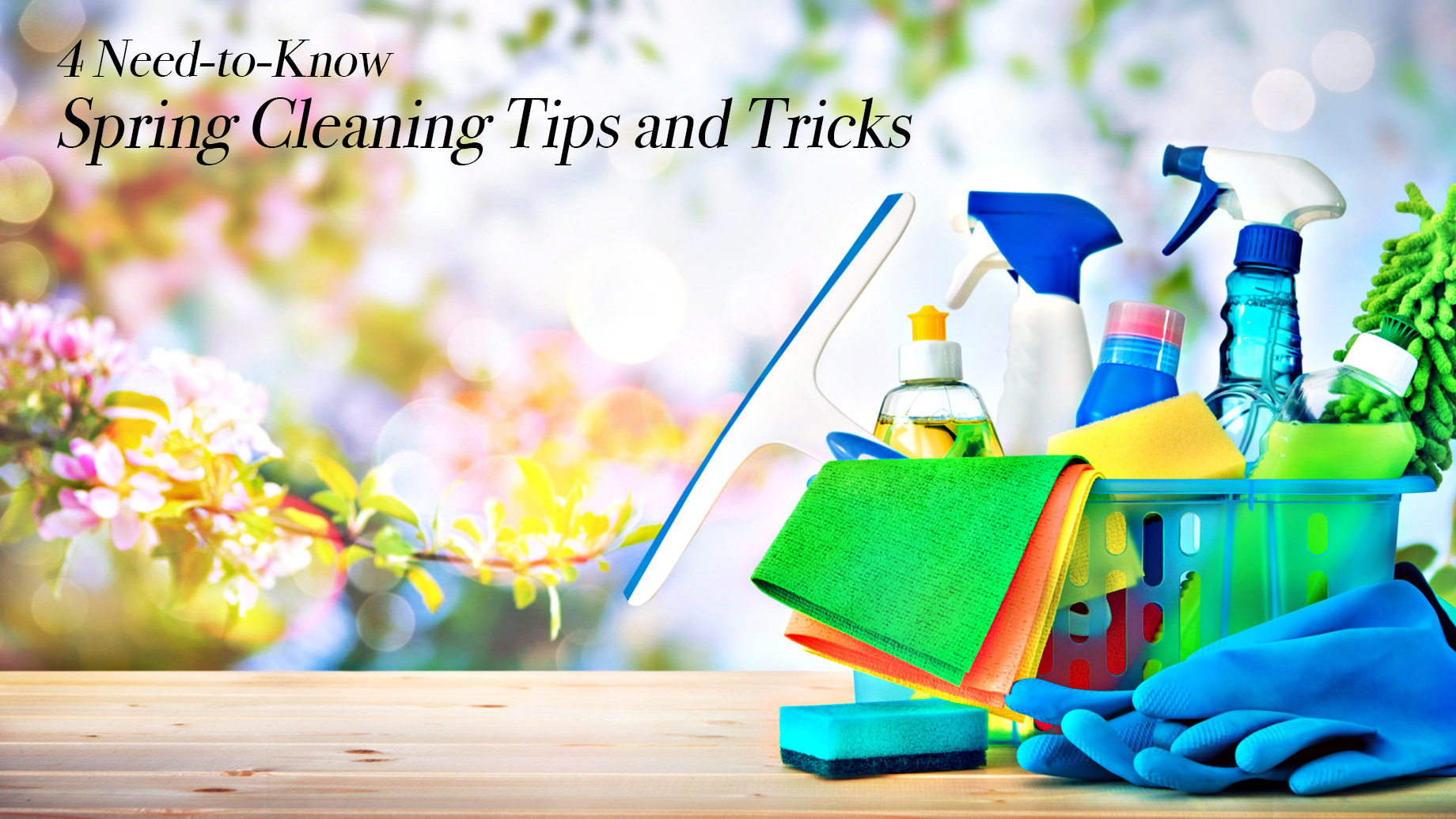 4 Need-to-Know Spring Cleaning Tips and Tricks