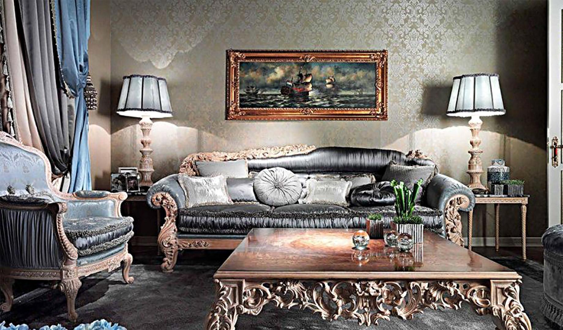 Asnaghi Interiors - Poseidon 3-Seat Sofa