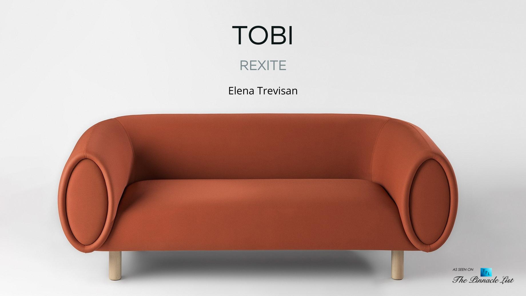 Iconic Tobi Sofa Designed with Zen Garden Principles by Rexite Italy