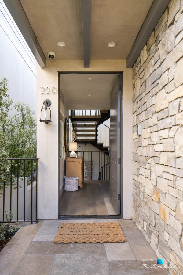 220 8th St, Manhattan Beach, CA, USA - Luxury Real Estate - Ocean View Dream Home - Front Entrance Door