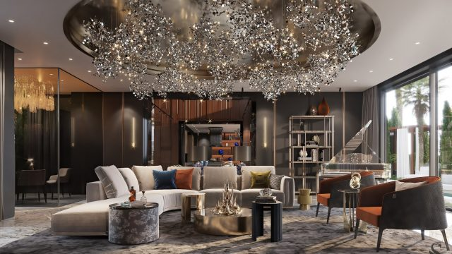 Enchanting Luxurious Villa Interior Design Dubai, UAE - Studia 54