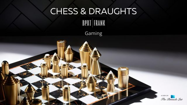 Luxury Designer Chess & Draughts Board Game Collection by Bert Frank