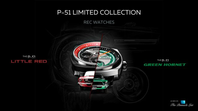 REC Watches Iconic P-51 Little Red & Green Hornet Limited Collection