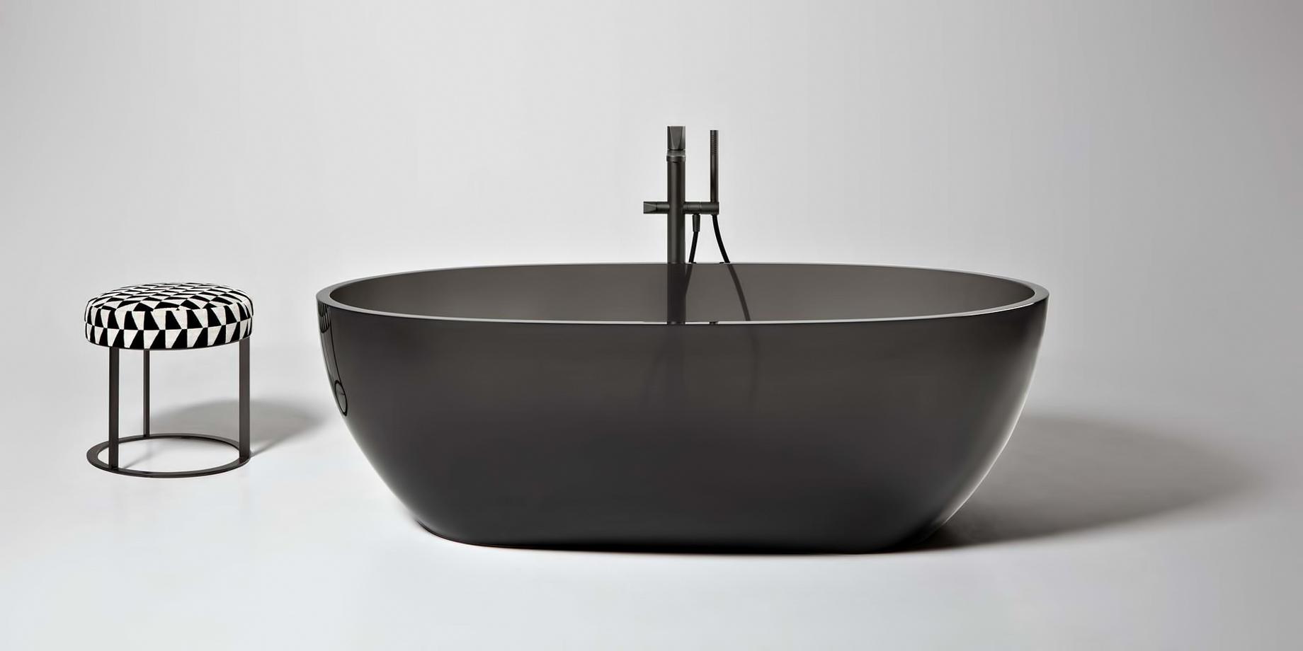Transparent REFLEX Cristalmood Resin Luxury Bathtub by AL Studio - Fume