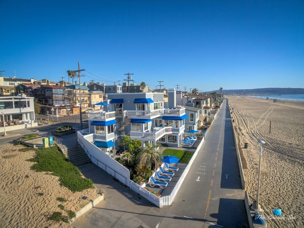 3500 The Strand, Hermosa Beach, CA, USA – Drone Aerial View - Luxury Real Estate – Original 90210 Beach House